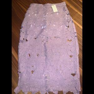 Lavendre Flower Midi Skirt